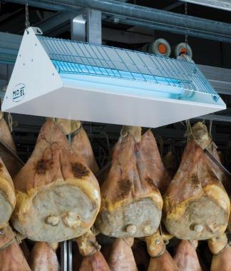 UV-A (Actinic BL lamp) in vleesverwerking zoals beenhouwer slager
